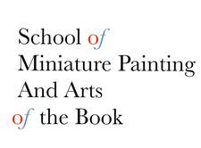 Fatima Zahra Hassan - School of Miniature Painting and Arts of the Book  logo