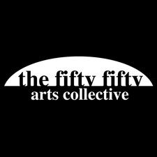 the fifty fifty arts collective  logo