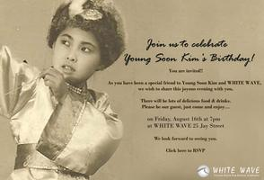 Join us to celebrate Young Soon Kim's Birthday!