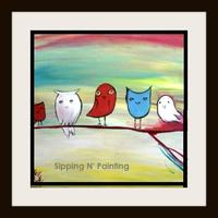 Hampden Sip N' Paint 5 Little Owls  Sat Jan 11th 3pm...