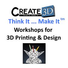 Create3D - Workshops for 3D Printing & Design logo
