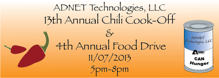 13th Annual Chili Cook-Off & 4th Annual Food Drive