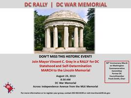 50th Anniversary of the March on Washington - DC RALLY...