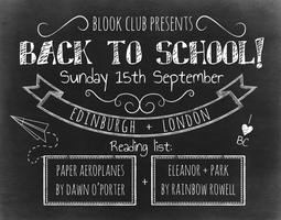 Blook Club: Back to School