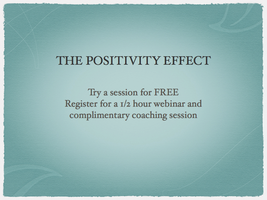 The Positivity Effect September 19th 1pm