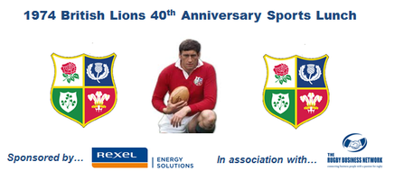 1974 British Lions 40th Anniversary Sports Lunch