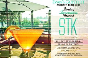 STK Summertime RoofTop Brunch on Evan's Guestlist