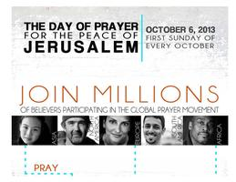 2013: The Day of PRAYER for the PEACE of Jerusalem