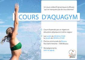 AQUAGYM reprise des cours à la piscine de Boussu