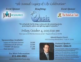 Oasis Legacy of Life Celebration