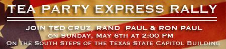 Tea Party Express Tour: Rally featuring Ted Cruz, Rand Paul...