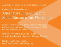 Alternative Financing and Small Business Tax Workshop