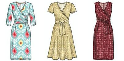 Sewing with stretchy fabrics -make a wrap dress