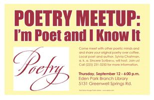I'm a Poet and I Know It! Meetup