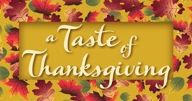 A Taste of Thanksgiving 2013