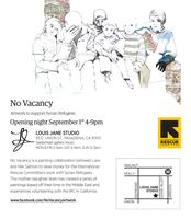 No Vacancy, Artwork to support Syrian refugees