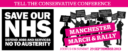 Coach to 29th September NHS Demo in Manchester from...