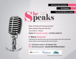 The SheSpeaks: Women Power and Change Conference