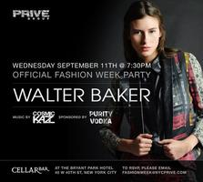 Walter Baker Fashion Week Party At Cellar Bar