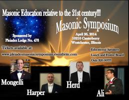 Pleiades Lodge No. 478 Masonic Symposium