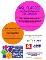 ASL Classes - Fall Session