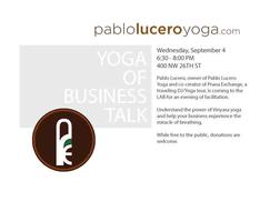 The Yoga of Business Talk
