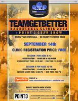 Team FOOTPRINTZ FREE Basketball Clinic Fall 2013