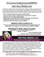 Auditioning and Improv Teen and Adult Workshop with...