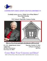 """Community Education Council of District 5's """"Wake Up..."""