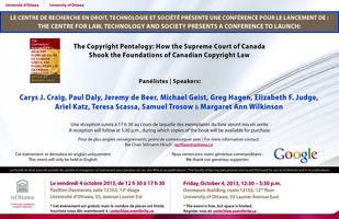 "A Conference to Launch: ""The Copyright Pentalogy"""