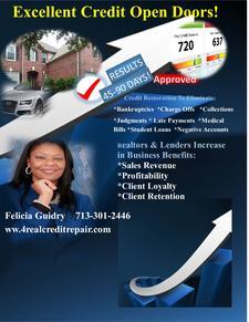 Felicia Guidry, 4 Real Credit Repair  logo