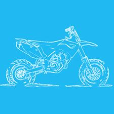 discover the world on 2 wheels logo