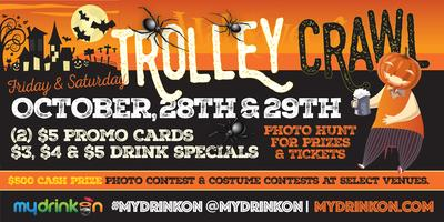 (Almost Sold Out) 2016 Halloween Trolley Bar Crawl...