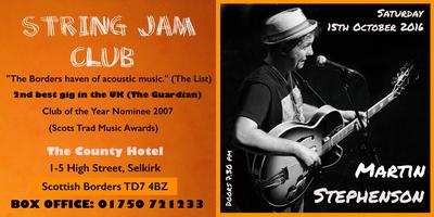 MARTIN STEPHENSON at The String Jam Club 15th October
