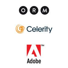 ORM, Celerity & Adobe logo