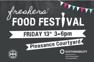 Freshers Food Festival 3-6pm, Fri 13 Sept at The...