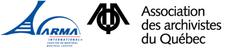 ARMA Montréal et Association des archivistes du Québec logo