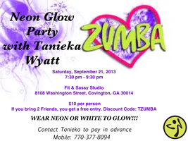 Tanieka's Neon Glow Zumba Party
