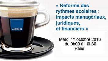 REFORME DES RYTHMES SCOLAIRES : impacts managériaux,...