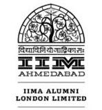 IIM-A Alumni London logo