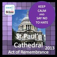 Act of Rembrance and Renewal launching Hate Crime...