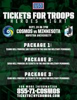 New York Cosmos Tickets for Troops