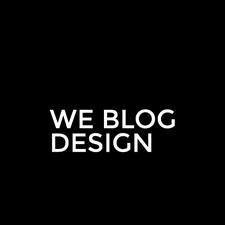 We Blog Design logo
