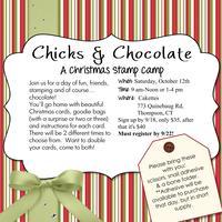 Chicks & Chocolate- a Christmas Stamp Camp