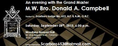 An evening with M. W. Bro. Donald A. Campbell