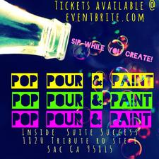Pop Pour & Paint  logo