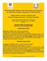 The 13th Edition of Italian Language in the World Week...