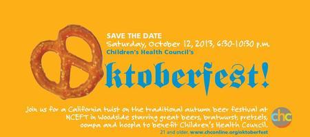 Children's Health Council Oktoberfest VOLUNTEER...