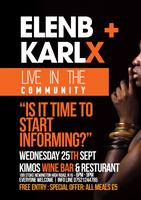 Elen B & Karl X LIVE in da community