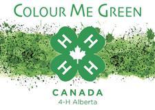 4-H Alberta Colour Me Green logo
